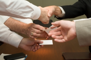 business card swap
